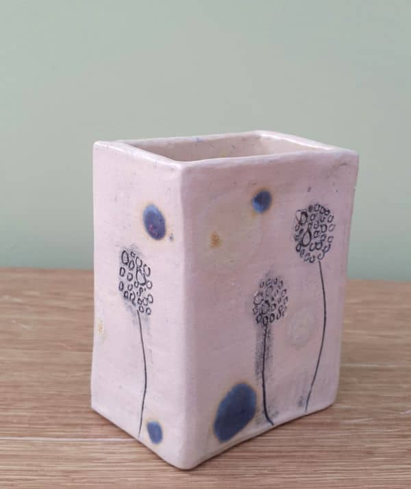 dandelion ceramic pot