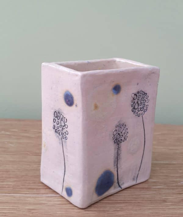 dandelion ceramic pot