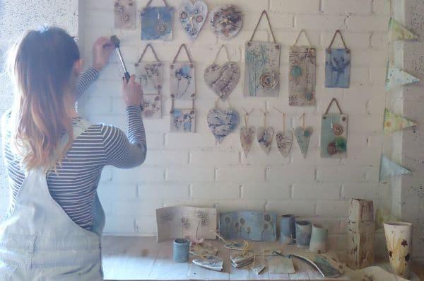 ceramic wall hangings