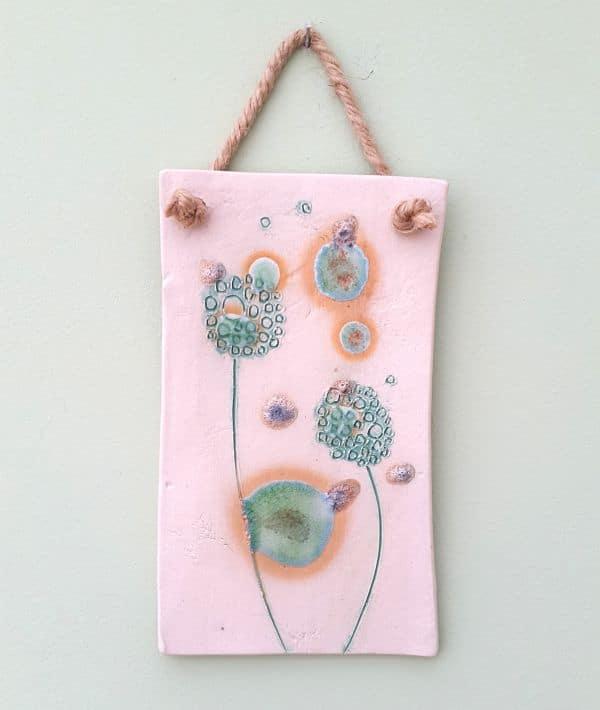 summer dandelions plaque