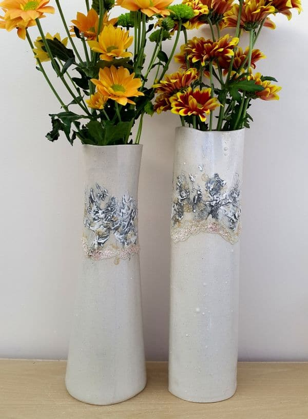 dove grey sealine ceramic vases