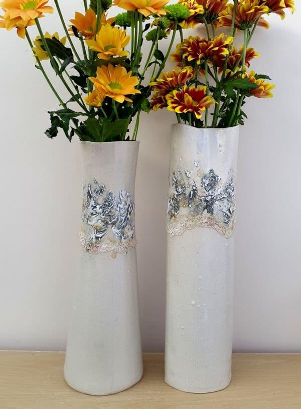 dove grey sealine ceramic vases