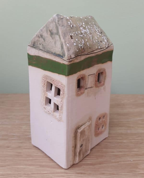 ceramic tea light house