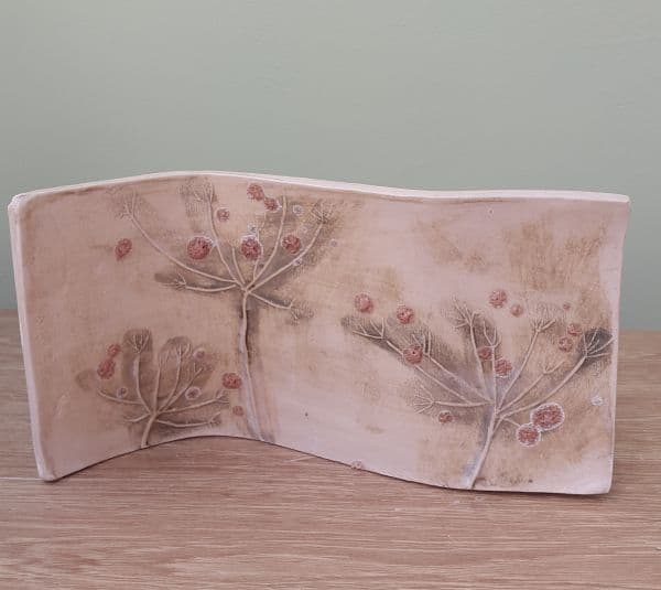 organic cow parsley ceramic curve