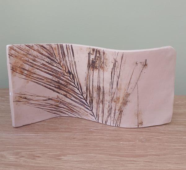 rustic rainforest leaf ceramic curve
