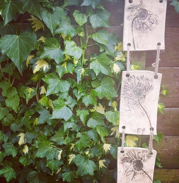 gerbra paneled wall hanging