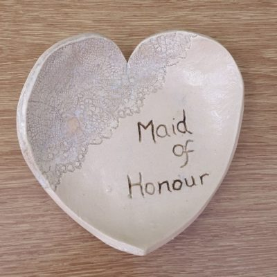 maid of honour ceramic heart trinket dish