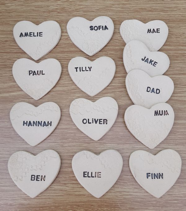 personalised ceramic wedding favours