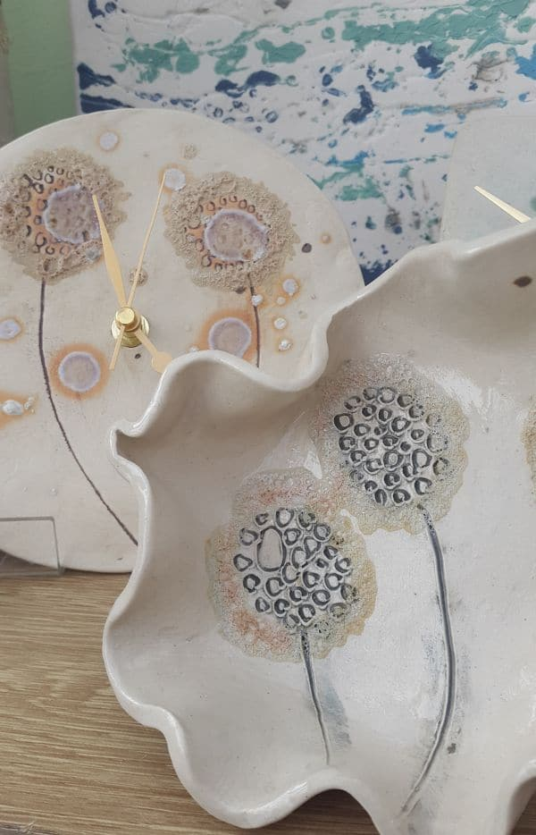 ceramics dandelion collection