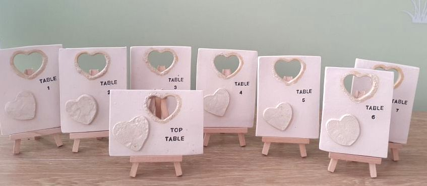 ceramic table number tiles