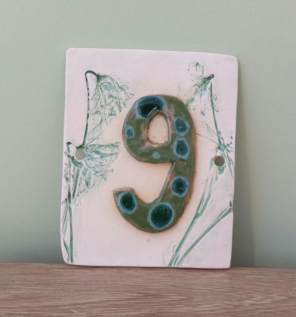ceramic number plaque