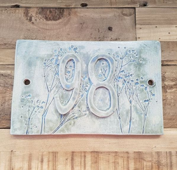 Double Ceramic House Number Tile Charlotte Hupfield Ceramics
