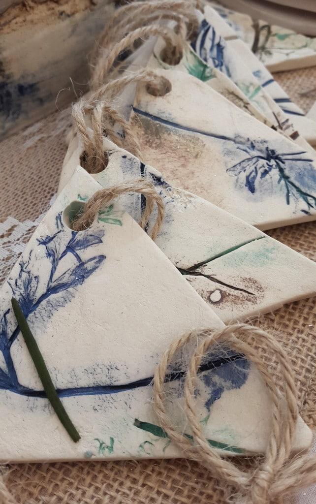 organic ceramic bunting