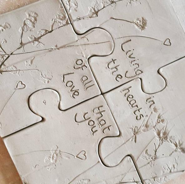 ceramic jigsaw pieces