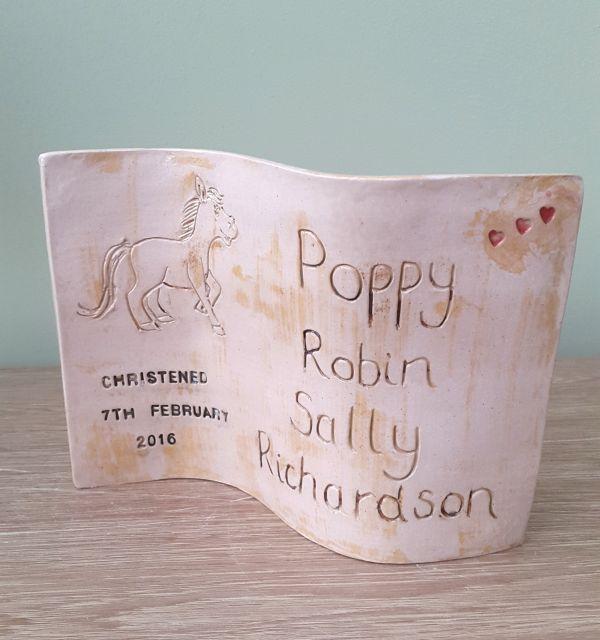 ceramic christening gift