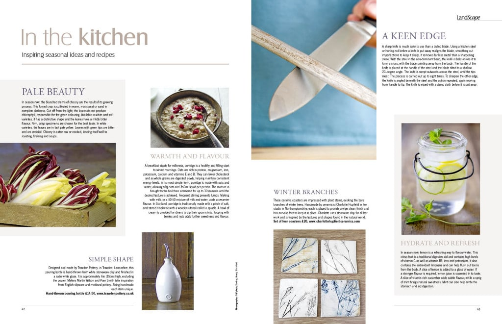 LandScape magazine in the kitchen