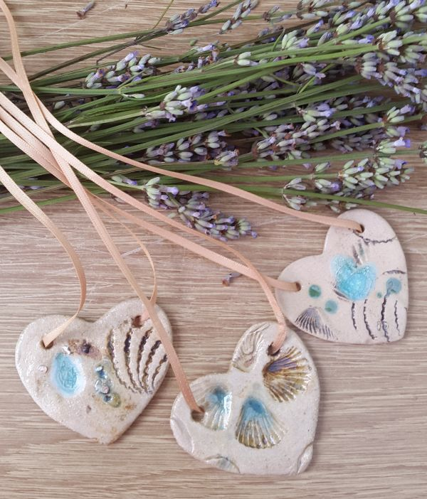 beside the sea ceramic pendants