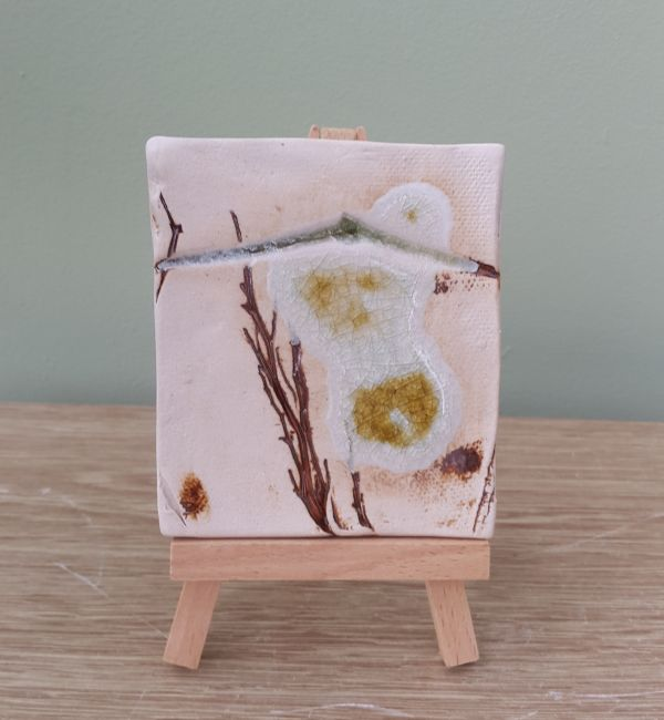 mini ceramic art with easel