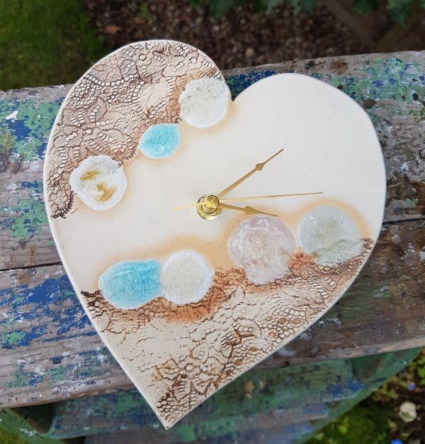 ceramic heart clock