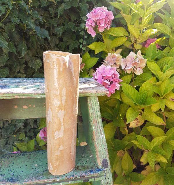 silver birch ceramic vase
