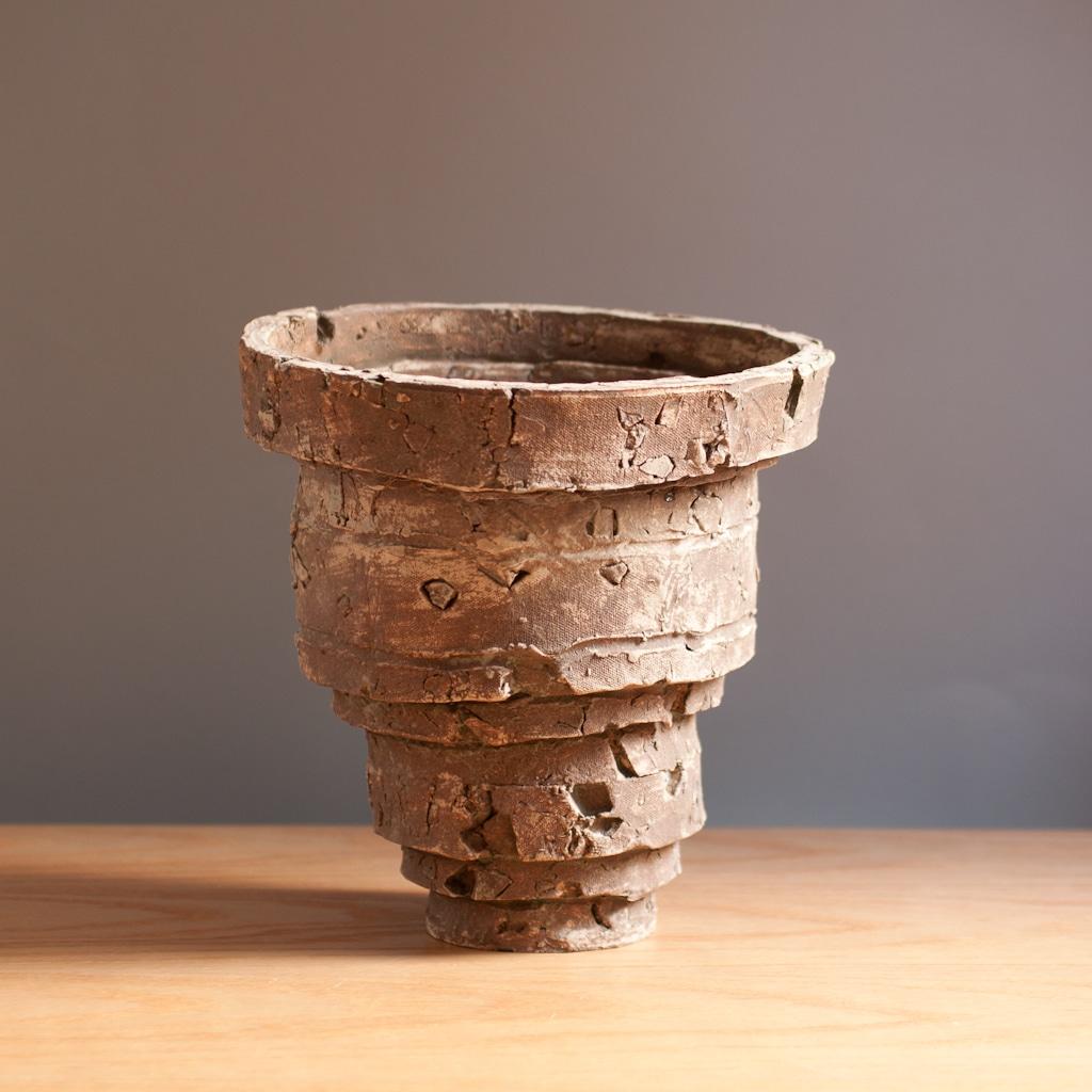 Rustic Ceramic Sculptural Vessel Planter Charlotte