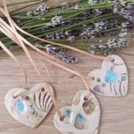 beside the sea ceramic heart pendants