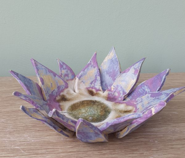 tutti frutti flower tea light bowl