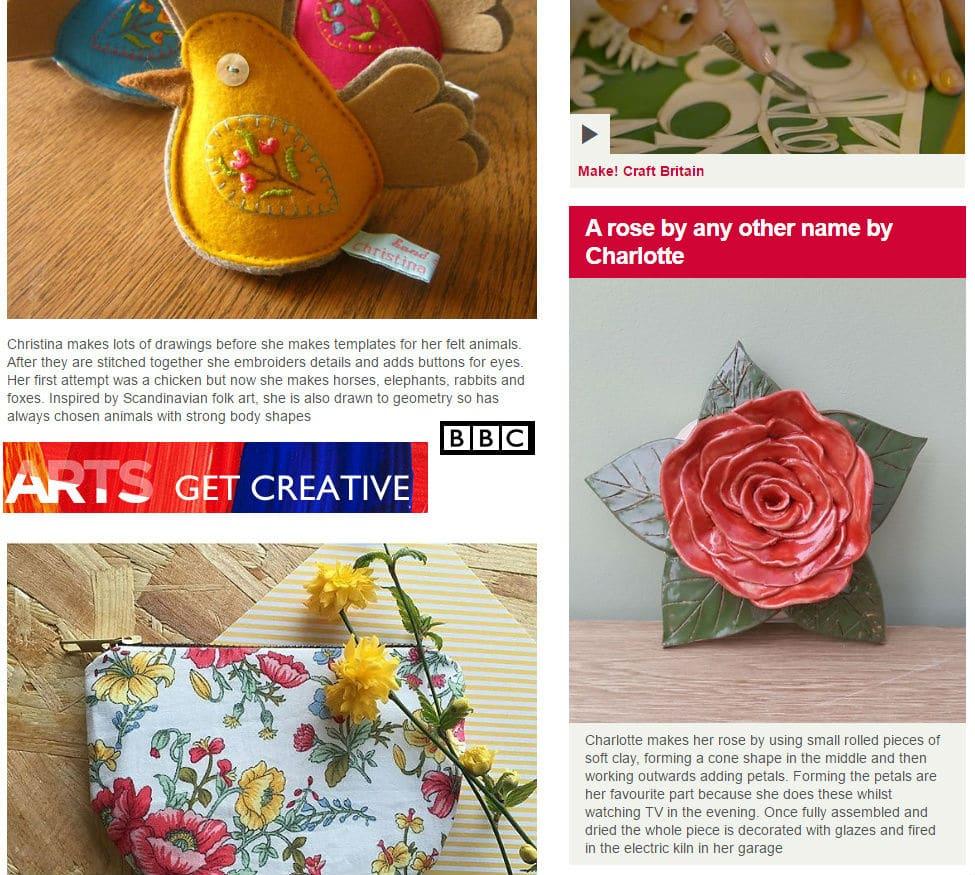 BBC Make! Craft Britain ceramic rose