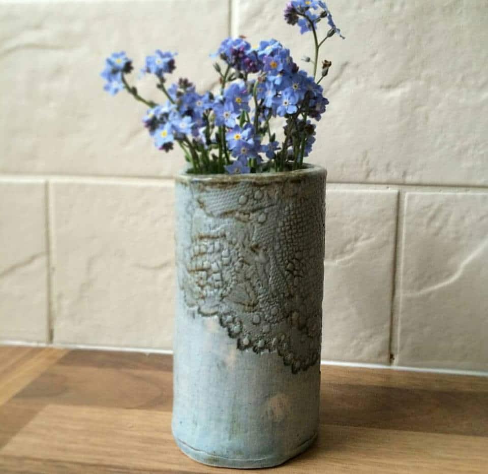 lace bud vase