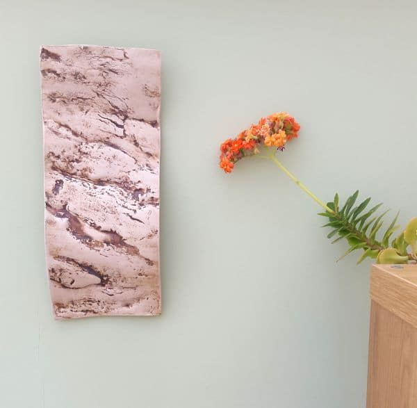 tree bark ceramic wall hanging