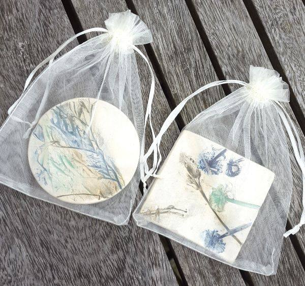 coasters in gift bags
