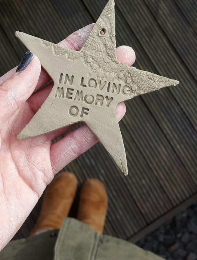 in loving memory of... handmade christmas star