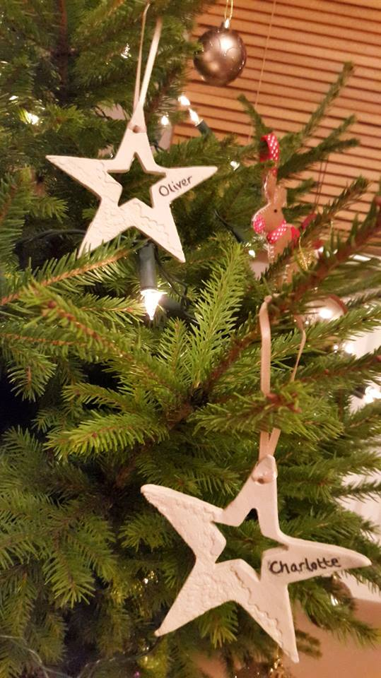 personalised ceramic hanging star