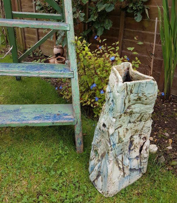 ceramic garden vessel planter