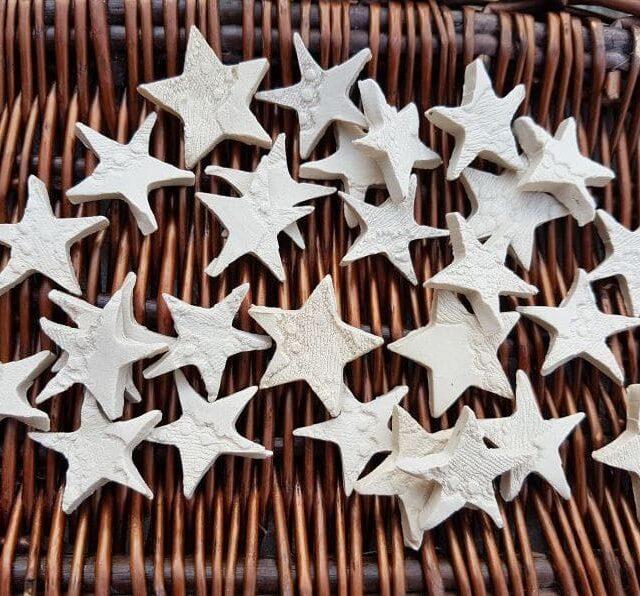 ceramic lace stars crafts