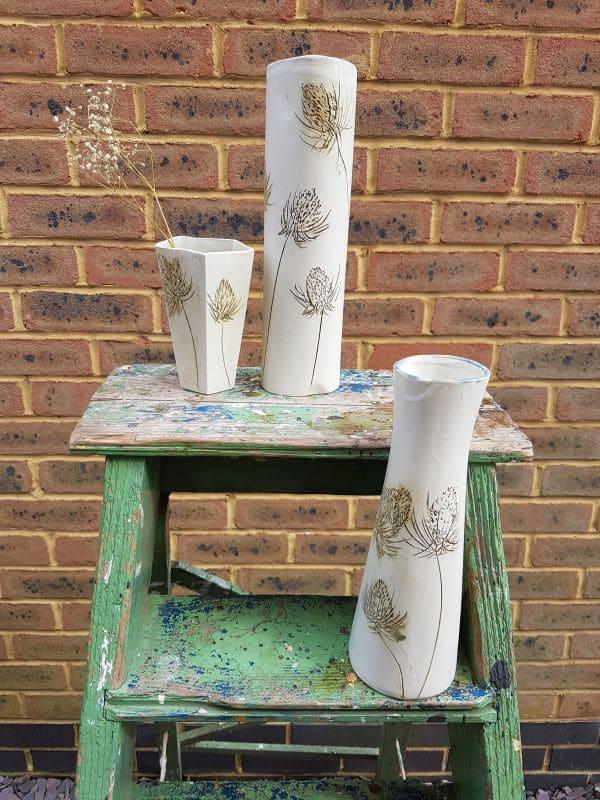 thistle vases