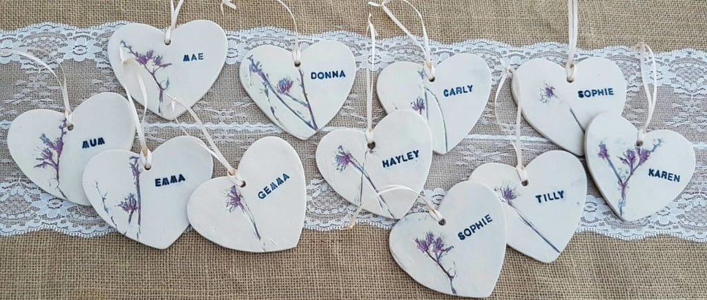 personalised ceramic hearts