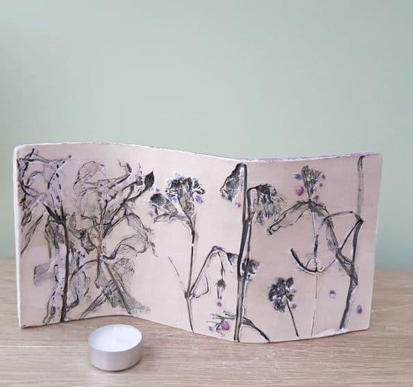 floral ceramic curve
