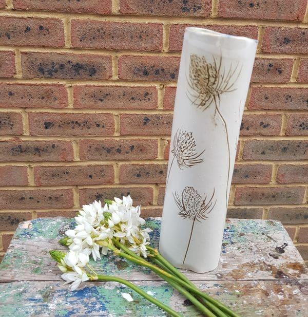 tall teasel vase