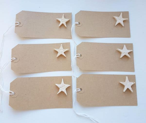 gift tags with ceramic stars