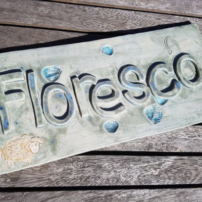 bespoke ceramic house name sign