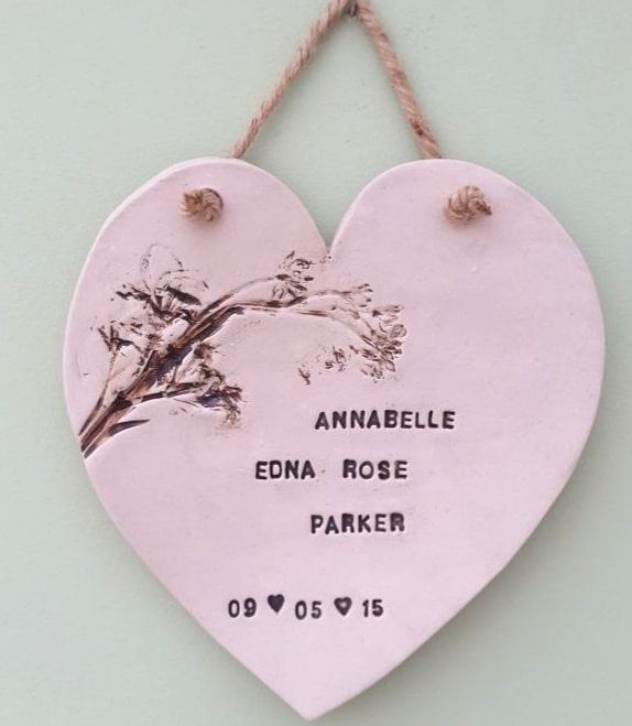 personalised ceramic heart