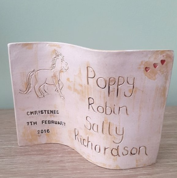 personalised ceramic newborn curve