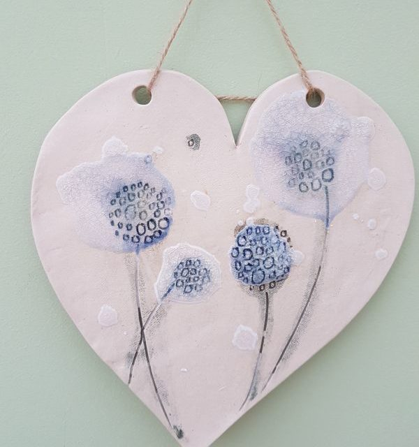 dandelions heart plaque