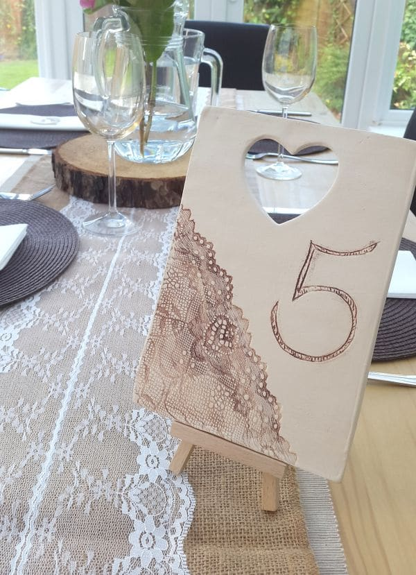 number 5 ceramic table number