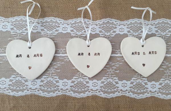 personalised ceramic hearts