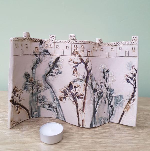 floral decorative ceramic panel