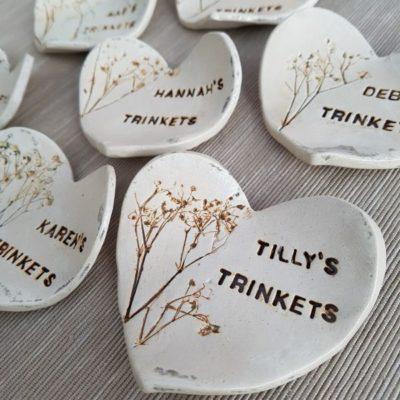 personalised bridesmaid gift heart