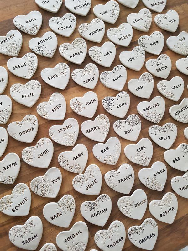 personalised love heart wedding favour keepsakes