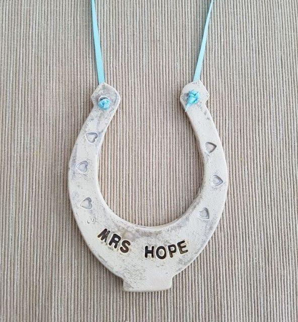 personalised lucky horseshoe